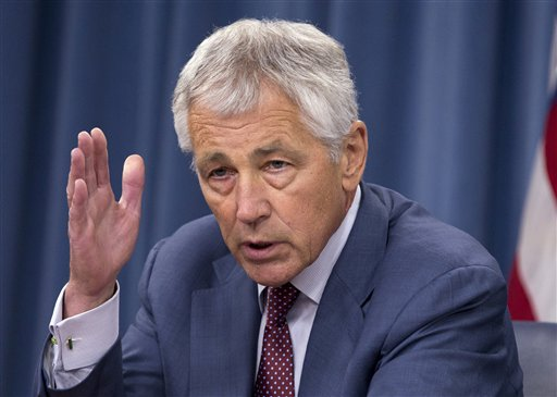A memo from Defense Secretary Chuck Hagel to top defense leaders, if implemented, would reverse an earlier plan that would allow the same-sex partners of military members to sign a declaration form in order to receive limited benefits, such as access to military stores and some health and welfare programs.