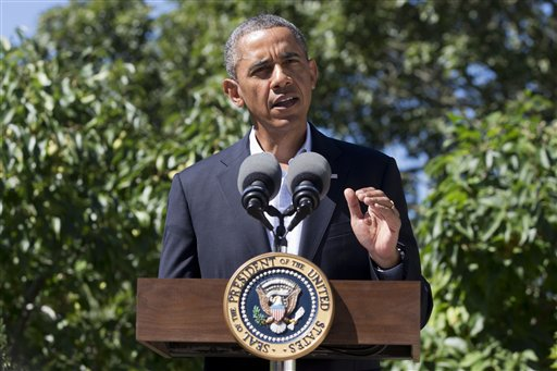 President Barack Obama makes a statement to the media regarding events in Egypt, from his rental vacation home on the island of Martha's Vineyard Thursday.