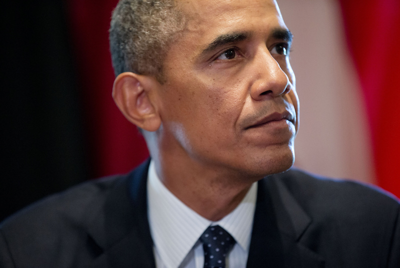 President Barack Obama pauses after speaking to members of the media during his meeting with Baltic leaders in the Cabinet Room of the White House in Washington on Friday. Obama said he hasn't made a final decision about a military strike against Syria.