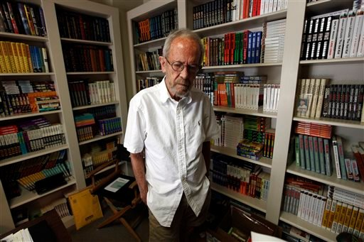 Elmore Leonard, shown in this September 2012 photo, was a former adman who later in life became one of America's foremost crime writers.