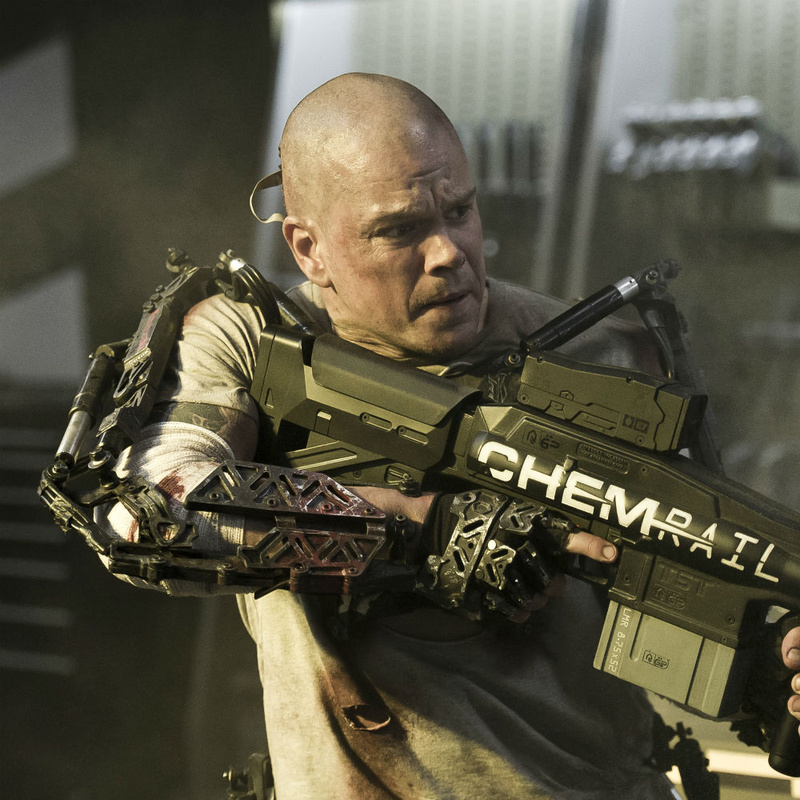 Matt Damon's Max Da Costa is doomed unless he can find a cure on the giant space station Elysium.