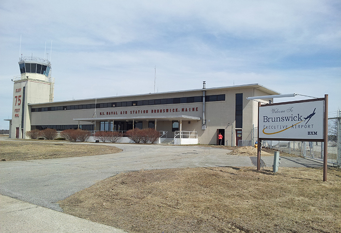 The former Navy Air Operations Center for Brunswick Naval Air Station will be turned into a general aviation terminal for Brunswick Executive Airport. Photo provided by the Midcoast Regional Redevelopment Authority.