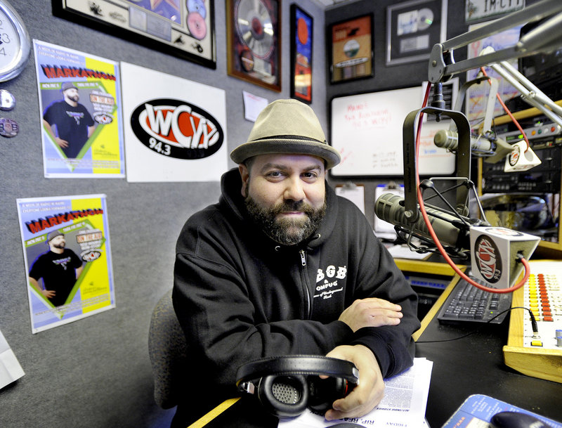 Mark Curdo is a disc jockey for WCYY, one of four Portland radio stations that are being sold to Townsquare Media, based in Greenwich, Conn.