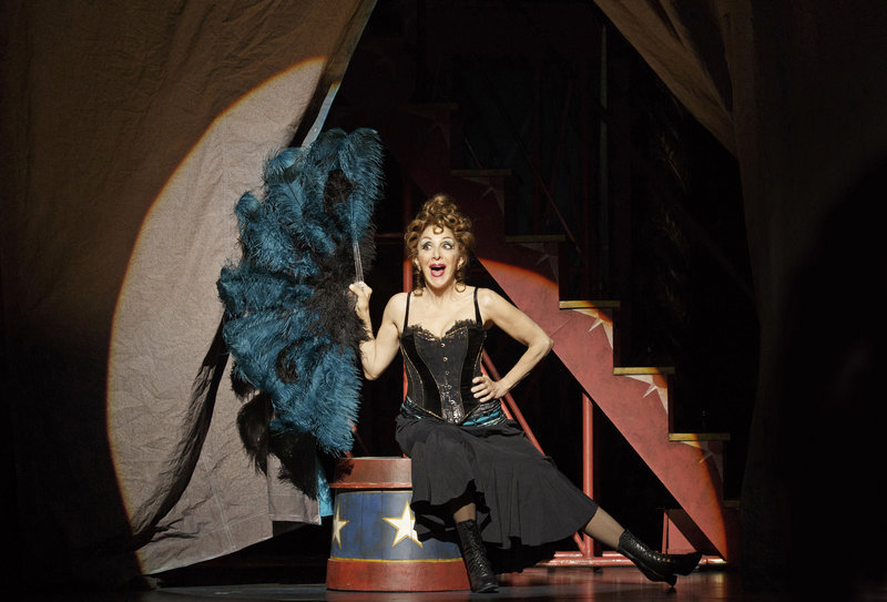 "Portland native Andrea Martin performs during a production of ""Pippin"" at Broadway's Music Box Theater, where she plays a robust older woman with secrets to share with her grandson."