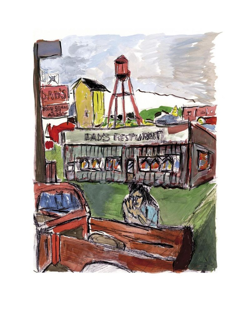 "Among the pieces at the WBLM Rock Art Show & Sale will be the Bob Dylan painting ""Dad's Restaurant."" Also included will be memorabilia such as artwork from album covers and photographs from recording sessions featuring Pink Floyd, Aerosmith, The Rolling Stones and others."