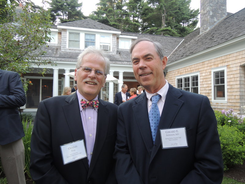 Dennis King, CEO of Spring Harbor Hospital, and Girard Robinson, chief medical officer at Spring Harbor and chief of psychiatry at Maine Medical Center.