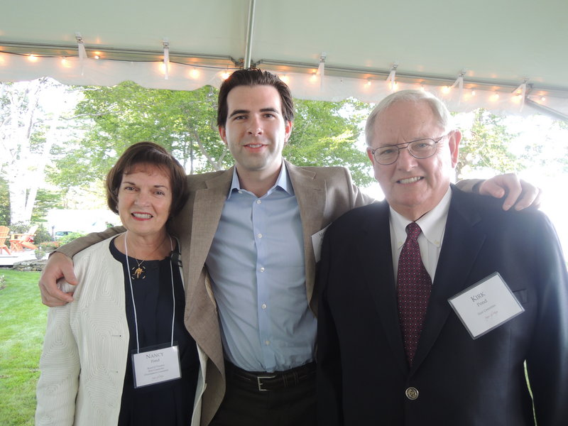 Spring Harbor board member Nancy Pond, her son, Mark St. John, one of the founders of It Takes a Community, and her husband, Kirk Pond.