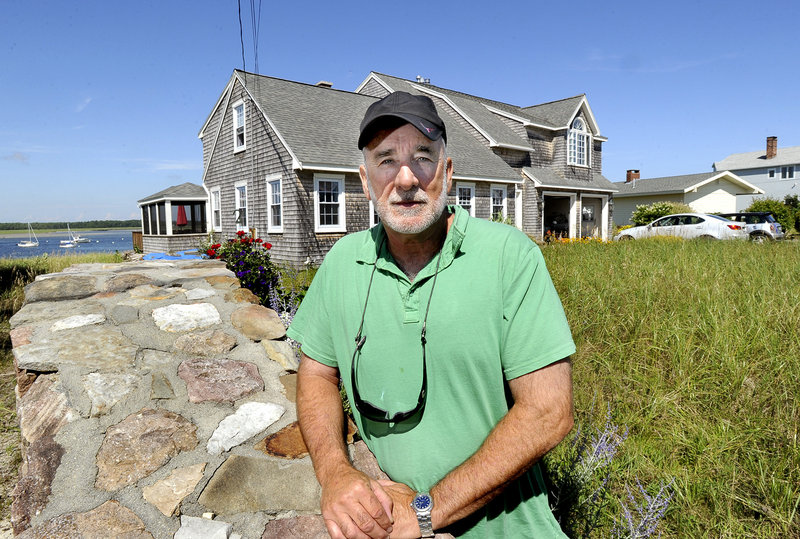 Don Petrin is among Scarborough residents to be affected by a recent waterfront land revaluation. Photographed here at his home on Pine Point on Thursday, August 1, 2013.