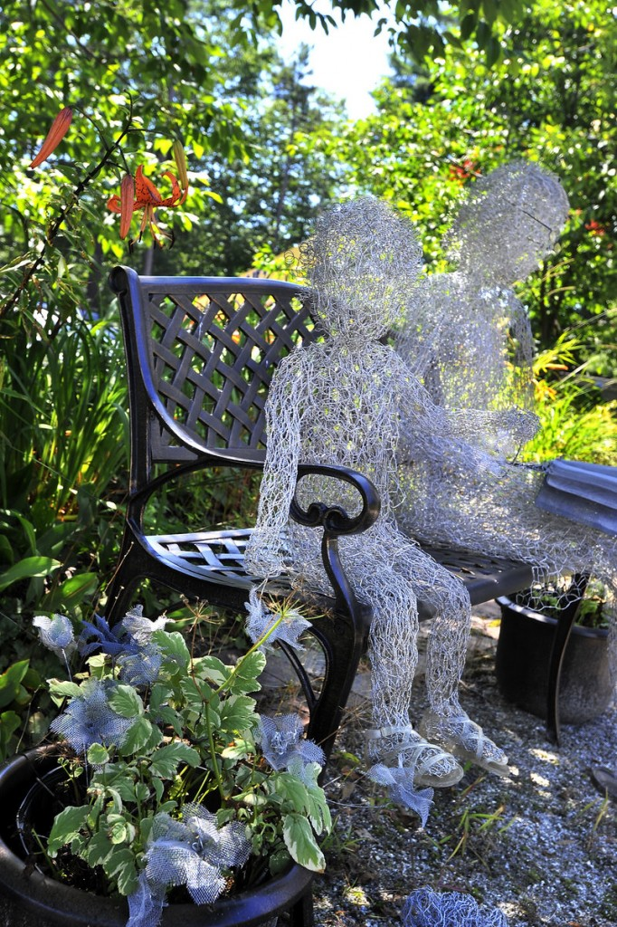 """""""Garden Interlude"""" by Carole Whelan at the Art Gallery at the University of New England in Portland."""
