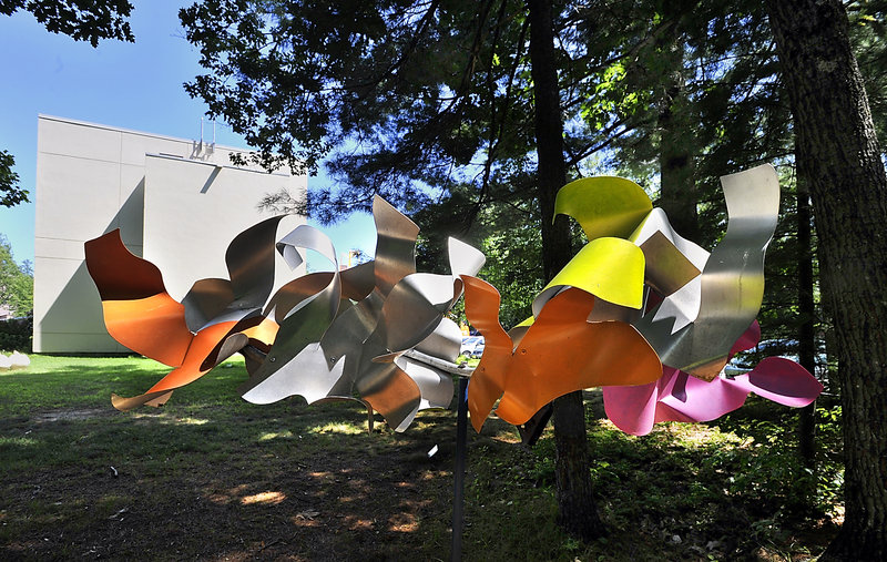 """At the Art Gallery at the University of New England in Portland, """"Spring (from the Cloud Series)"""" by Melita Westerlund."""