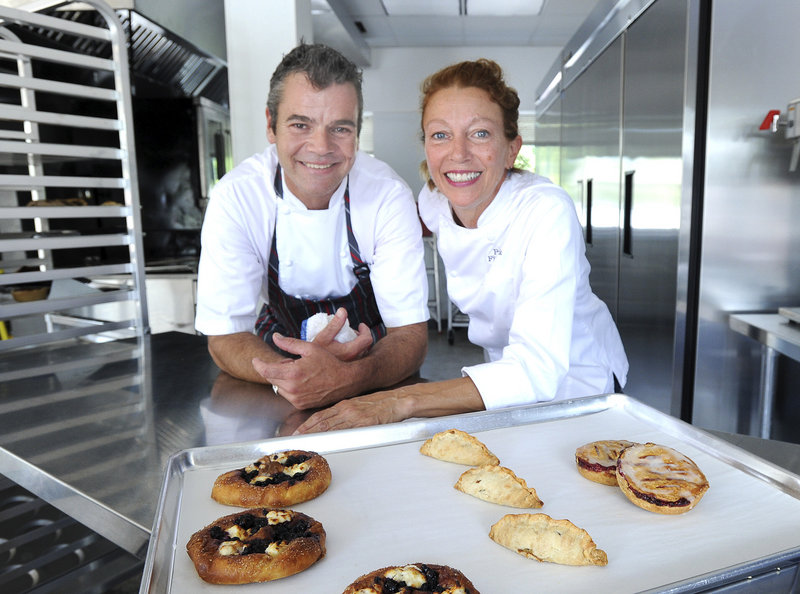 James Murray Plunkett and Pamela Fitzpatrick are opening Little Bigs in South Portland, which will feature specialty hand pies. They also plan to sell other kinds of finger-friendly foods, including raised and cake doughnuts in unusual flavors.