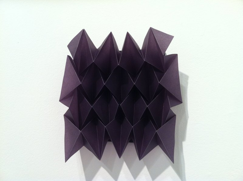 Paper sculpture by Petra Simmons, above and below. Simmons will lead a workshop on the art form Saturday at Space Gallery in Portland.