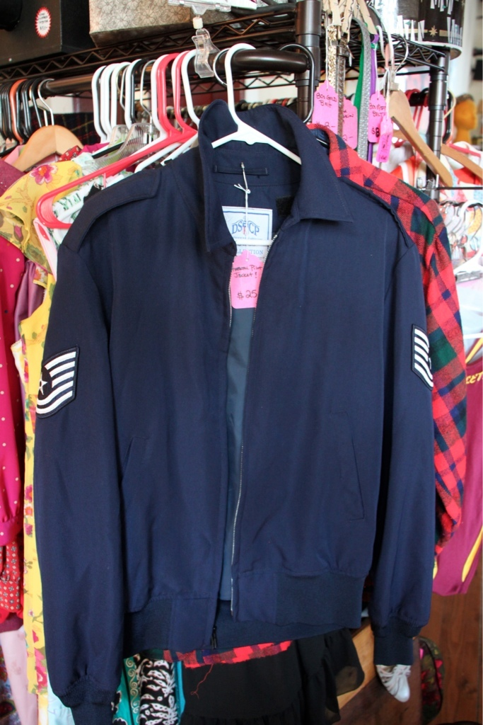 Thrift shop gems include jackets ...