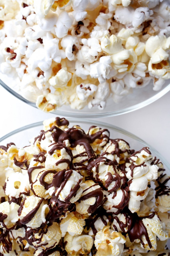 For the popcorn-addicted, garlic ghee and dark chocolate-drizzled versions.