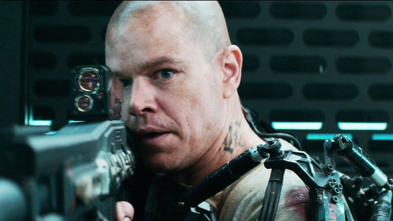"Matt Damon is on a mission to save the world in the 22nd century in ""Elysium."""