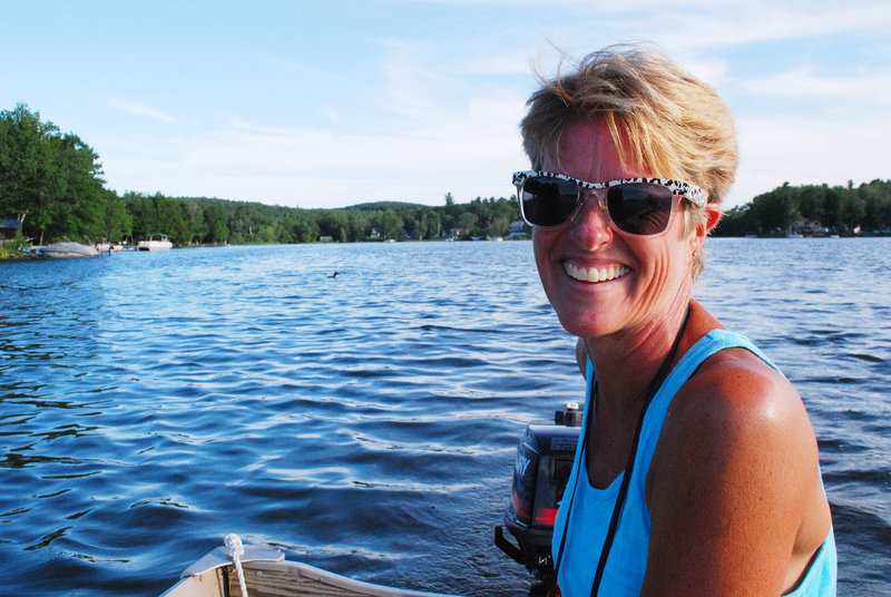 "Jeri Kahl, who has lived on Lake Cobbosseecontee for 37 years, has been the director of the lake's loon count for seven years. ""There always have been a lot of loons all the time we've lived here,"" she said."