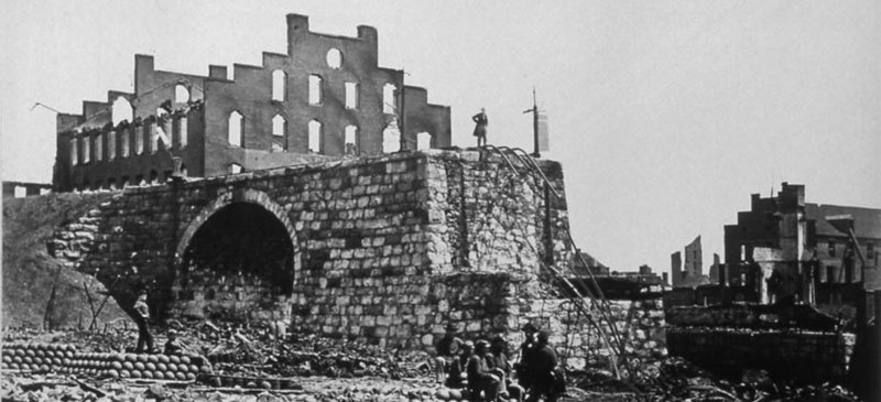 """Alexander Gardner's """"Ruins of the Arsenal, Richmond, Virginia, April 1865,"""" from """"This Mighty Scourge of War,"""" an exhibition of art from the Civil War opening Thursday at the Bowdoin College Museum of Art in Brunswick."""