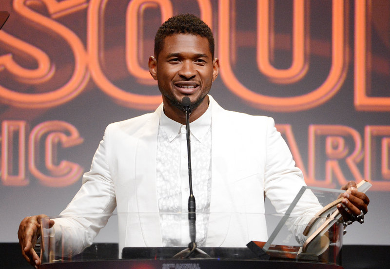 Usher accepts the Golden Note Award at the 26th Annual ASCAP Rhythm & Soul Music Awards in Beverly Hills, Calif., in June.