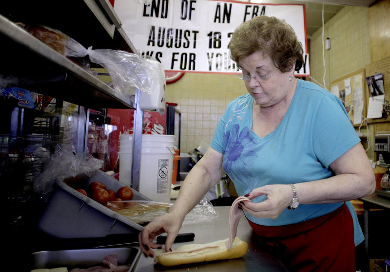 """""""It's bittersweet,"""" Eleanor DiPietro said Thursday night, in between preparing customers' orders. """"It's going to be hard, but it's time. I need to retire."""""""