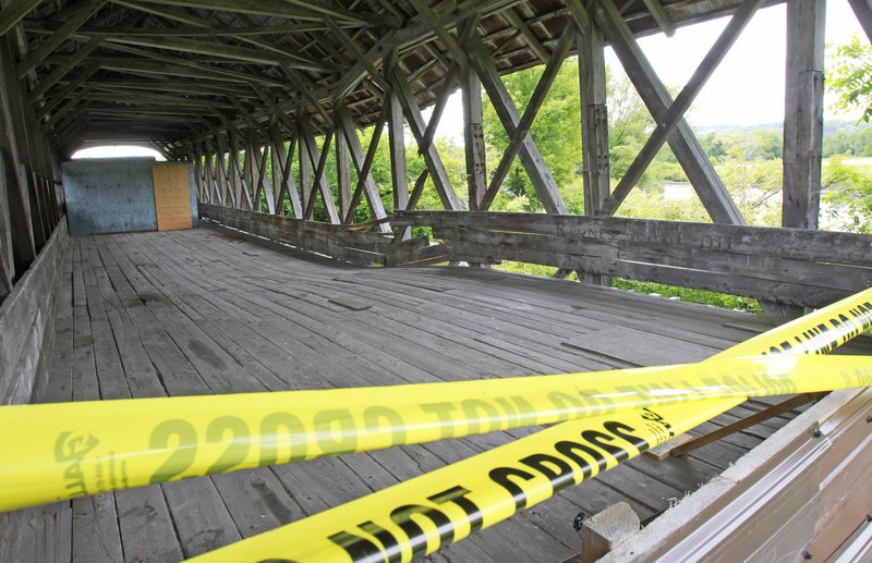 A covered bridge in Lyndonville, Vt., has been closed due to structural concerns. The family that owns the bridge might tear the structure down rather than repair it.