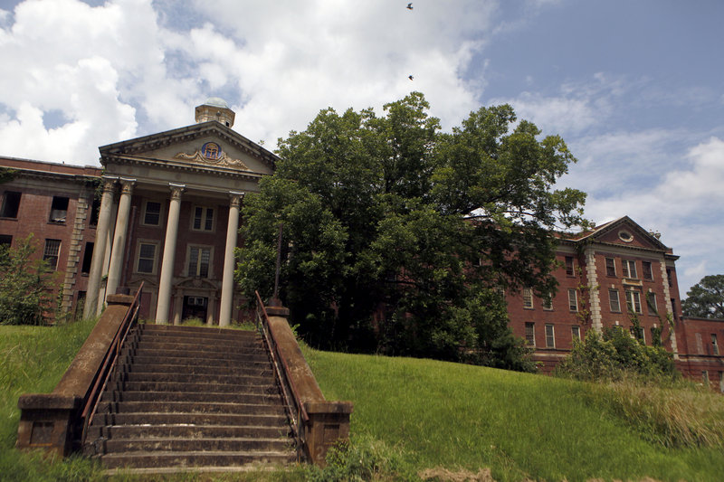 The Jones Building stands in decay on the Central State Hospital campus in Milledgeville, Ga. Locals are working on redeveloping the hospital, which opened in 1842 and once housed 13,000 patients, and its 2,000-acre campus.