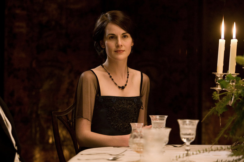 "Michelle Dockery portrays Lady Mary in a scene from the second season of ""Downton Abbey."""