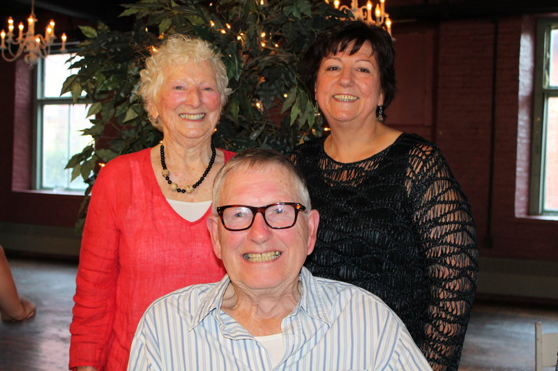 Madelyn Bergen Belliveau, left, with her husband, Dr. Donald Belliveau, and Maryanna Arsenault, president and CEO of HomeHealth Visiting Nurses.