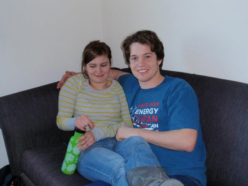 Parker Blanchard is shown with his fiancee, Annette Kowalik, in a photo taken around 2009 in his dorm room at the University of Southern Maine in Gorham.