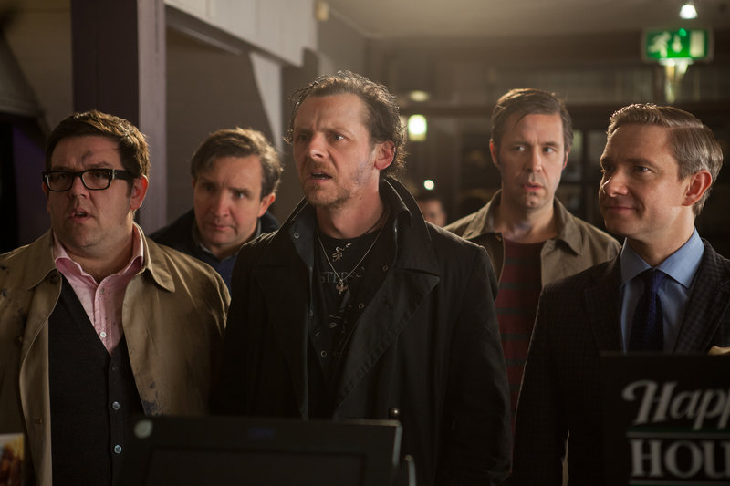 "Nick Frost, Eddie Marsan, Simon Pegg, Paddy Considine and Martin Freeman, five friends reuniting for an epic pub crawl, are in for an alien surprise in ""The World's End."""