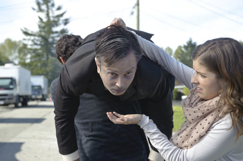 "Thomas Lennon and Anna Kendrick in a scene from ""Rapture-Palooza,"" a Videoport Pick."