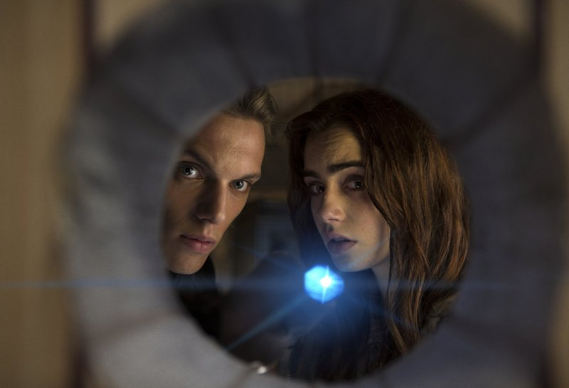 "Lily Collins stars as the Shadowhunter Clare Fray in ""City of Bones."""
