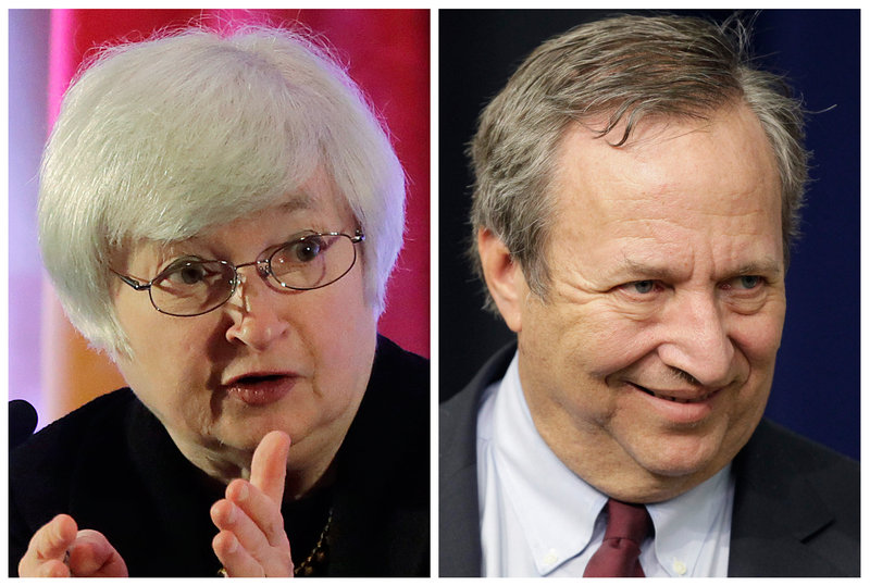 Fed Vice Chair Janet Yellen, left, and former Treasury Secretary Larry Summers.