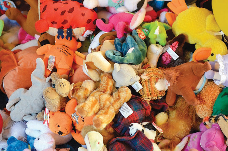 These are just some of the more than 1,200 stuffed animals that Noriah Still, 10, of Leominster, Mass., has collected for the Department of Children and Families in one month.