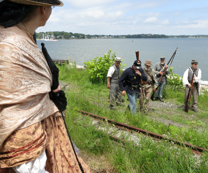 "Re-enactors of the Confederate 15th Alabama regiment will ""raid"" the train seeking money and supplies."