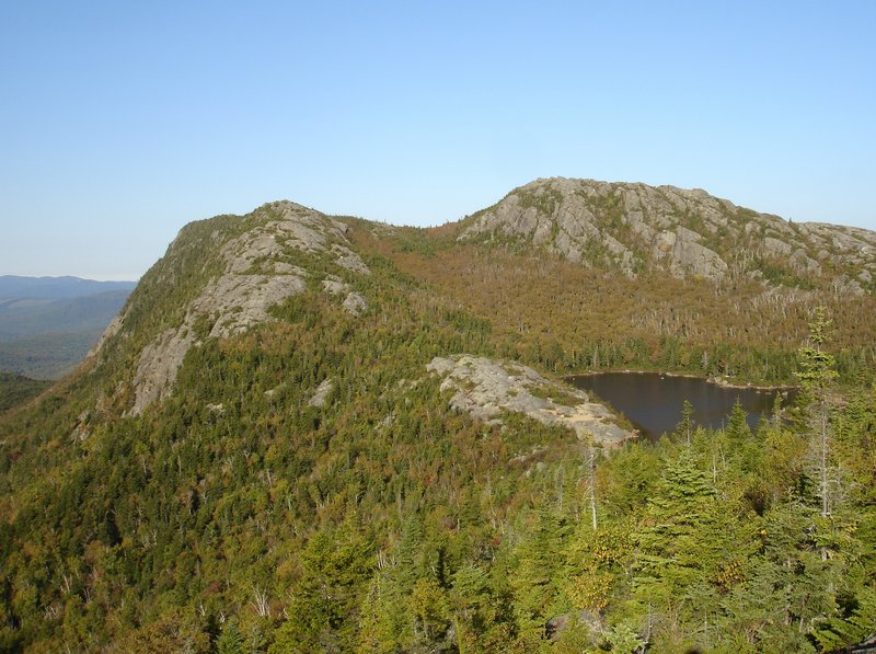 The Parker Ridge Trail on Weld's Tumbledown Mountain is a steep climb, but the views of the east and north peaks, with their dramatic cliffs, make it worth the effort.