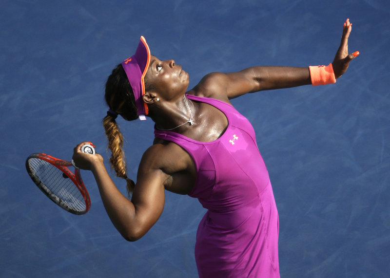 Sloane Stephens reached the fourth round of the U.S. Open with a victory over fellow American Jamie Hampton. Her next opponent: Serena Williams.