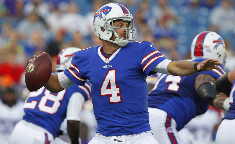 Bills quarterback Kevin Kolb was placed on injured reserve Friday because of a concussion and will miss the entire season.