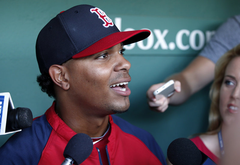 Xander Bogaerts hasn't seen much action since being promoted to the majors, but for now he's content being a reserve with the Red Sox.