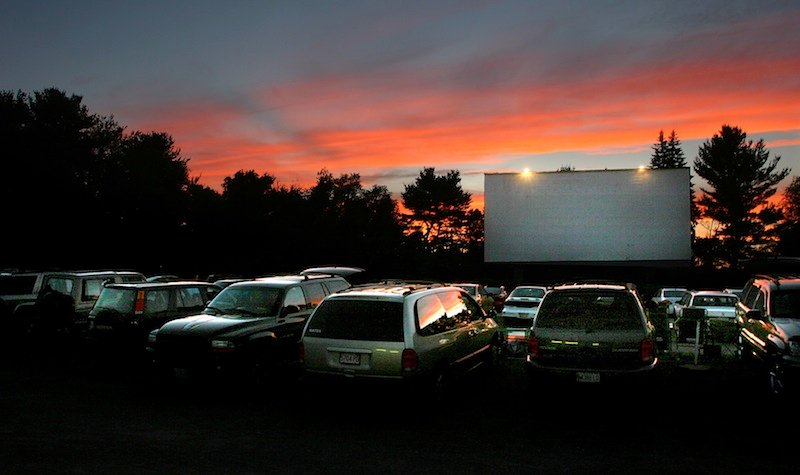 In this July 2005 file photo, cars file into the Saco Drive-In. The 74-year-old Saco Drive-In was named Wednesday, Sept. 11, 2013 as a winner in a national contest that will provide it with a new digital projection system, ultimately allowing it to keep operating. Pouya Dianat