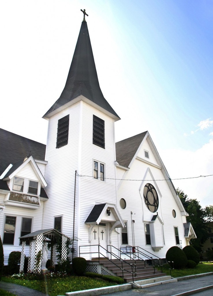 The Saco City Council temporarily halted a plan to buy and demolish the former Notre Dame de Lourdes church to make a parking lot after hearing strong opposition to the idea Tuesday, Sept. 3, 2013.