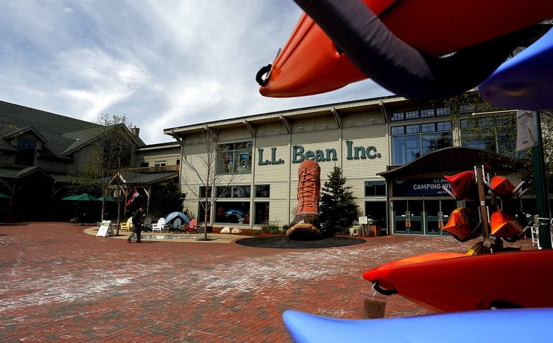 L.L. Bean in Freeport reports that sales from March through August for the outdoors retailer were up 3 percent from the same period last year.