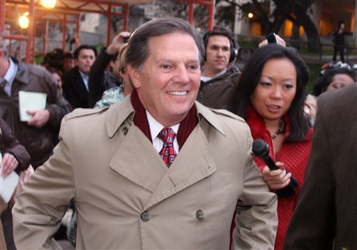 In this Jan. 10, 2011 photo, former House Majority Leader Tom DeLay leaves jail after posting an appeals bond in Austin, Texas.