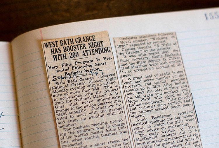 The Headline Of A Newspaper Clipping From 1957 Reports A Large Attendance  For A Function Held