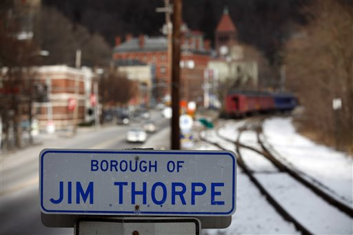 Residents and business owners in Jim Thorpe, Pa., are helping to raise money for the town's legal case, saying they have honored, appreciated and respected a man long considered one of the 20th century's best athletes.