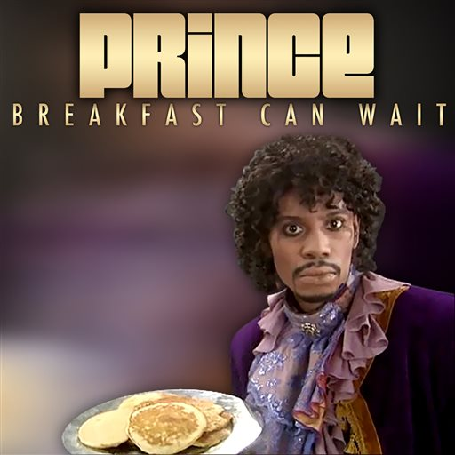 "This image released by NPG Records shows the cover art for Prince's new song ""Breakfast Can Wait,"" showing comedian Dave Chapelle dressed as Prince."