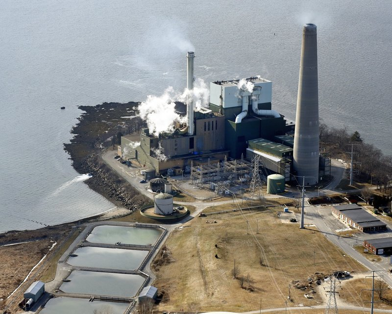 In this Jannuary 2013 file photo, an aerial shot of Wyman's Station on Cousins Island in Yarmouth, Maine.