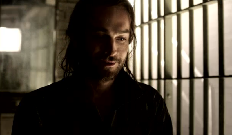 "Tom Mison plays Ichabod Crane in this screen shot from Fox's ""Sleepy Hollow."""