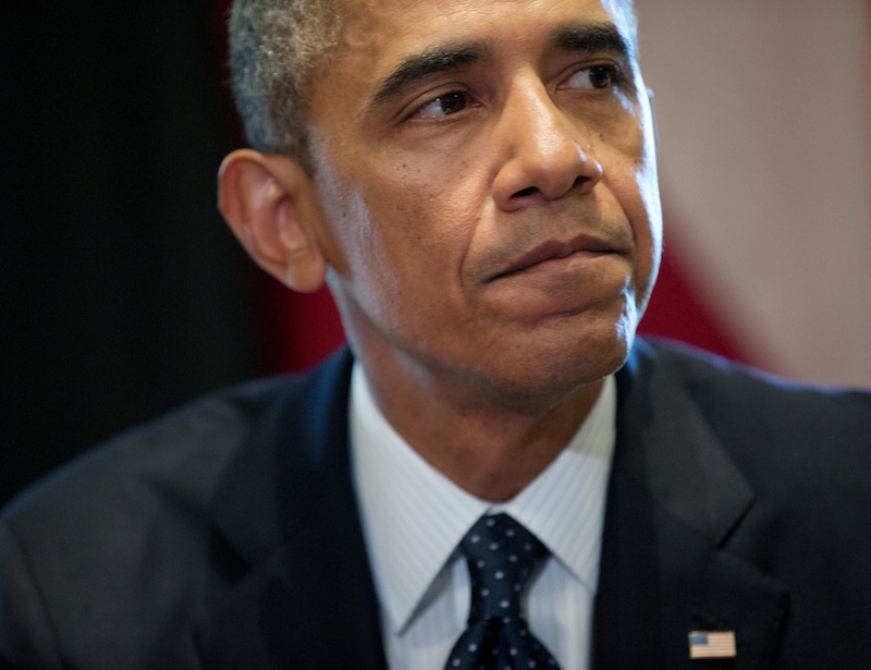 In this photo taken Aug. 30, 2013, President Barack Obama pauses after answering questions about Syria from members of the media during his meeting with Baltic leaders in the Cabinet Room of the White House in Washington. In declaring Syria a national security threat, the Obama administration is warning Americans as much about the leaders of Iran and North Korea as about President Bashar Assad. And America's credibility with those countries will be an immediate casualty if fails to respond to Syria now, administration officials say in making their case for U.S. missile strikes. It's a connection that's not immediately clear to most Americans _ especially after the White House refused to send military support earlier in the Syrian war. (AP Photo/Pablo Martinez Monsivais)