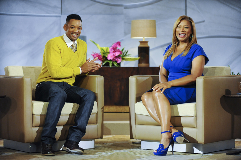 "Will Smith appears with Queen Latifah, on ""The Queen Latifah Show,"" where he also serves as executive producer. The daytime talk show debuts Monday. 2013;Queen Latifah;Sony"