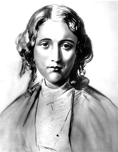 Harriet Beecher Stowe is shown in this undated drawing. A professor of American literature at Clemson University in Clemson, S.C., Susanna Ashton, says her research indicates Stowe harbored a fugitive slave from South Carolina just before she started writing her novel
